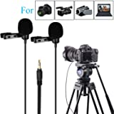 BOYA BY-LM300 Dual-head Lavalier Lapel Microphone Clip-on Omni-directional Condenser Mic for Canon Nikon Sony DSLR Camera Camcorder Sony DV PC Laptop