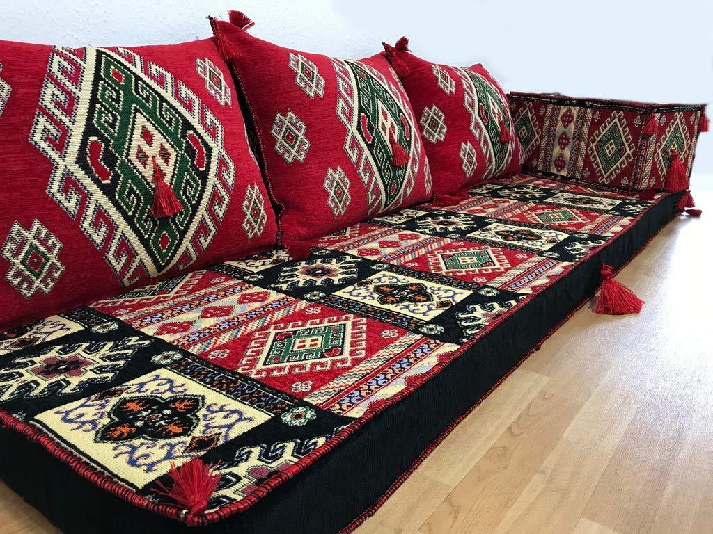 Orient-Designs Furniture,Oriental Seating,Arabic Seating,Floor Couch,Floor Cushions,Arabic jalsa,majlis,Hookah bar Decor The Original from Gulf Kilims