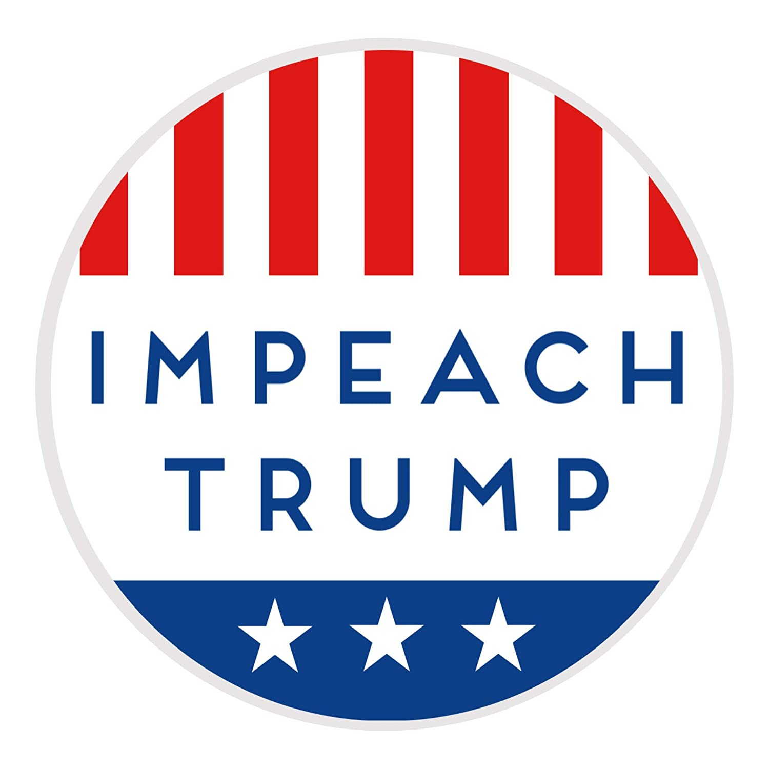 Amazon com impeach trump round american flag anti trump vinyl sticker for cars trucks laptops and more 10 pack automotive