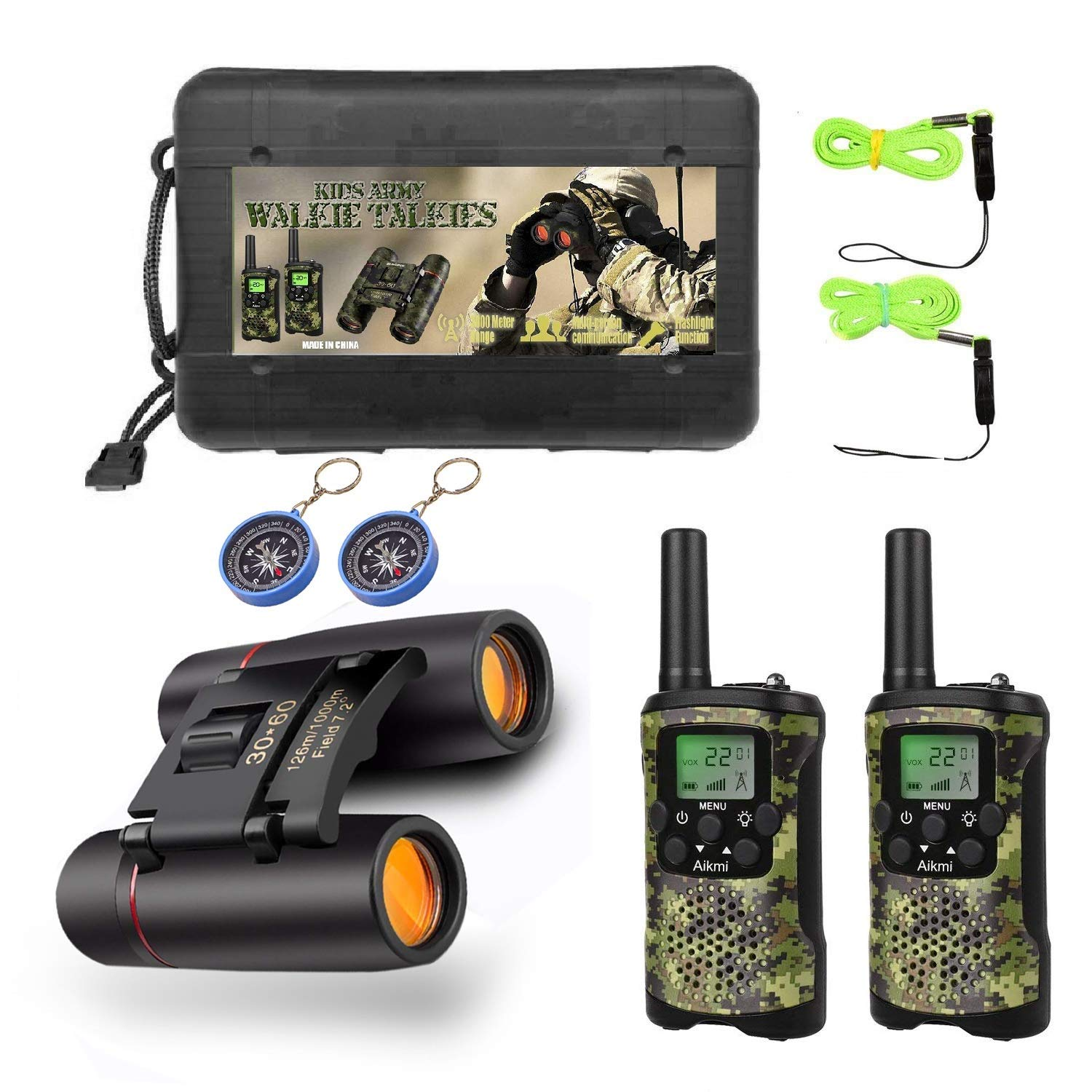 Kids Walkie Talkies Binoculars Toys - Mini Binocular Walkie Talkies for Kids Toy Birthday Gift for 4-10 Year Old Boys and Girls Fit Games, Adventure and Camping. Compass Included by Aikmi (Image #7)