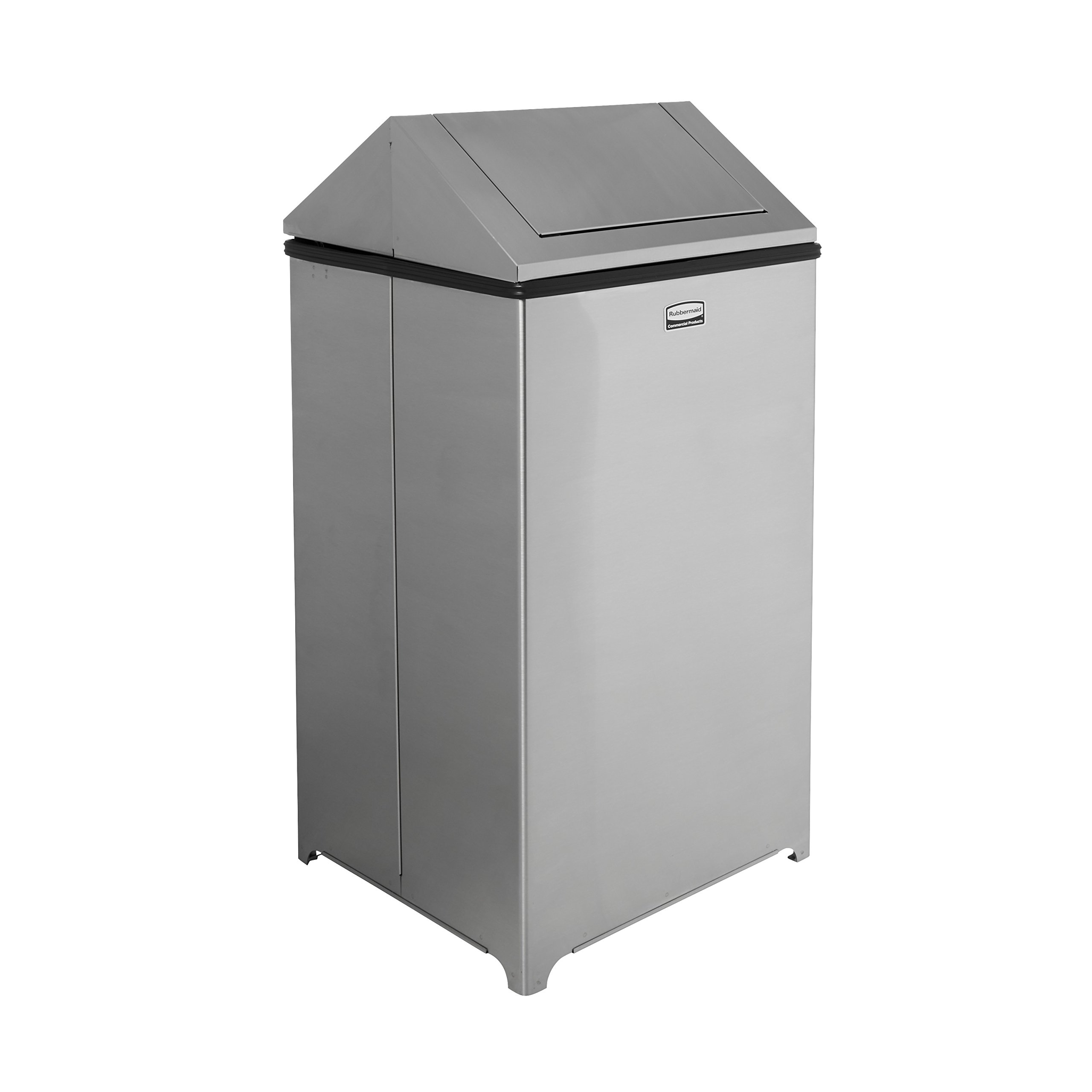 Rubbermaid Commercial WasteMaster Trash Can, 40 Gallon, Stainless Steel, FGT1940SSPL
