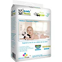 Andy Pandy Biodegradable Bamboo Disposable Diapers, Newborn, Newborn (Pack of 50)