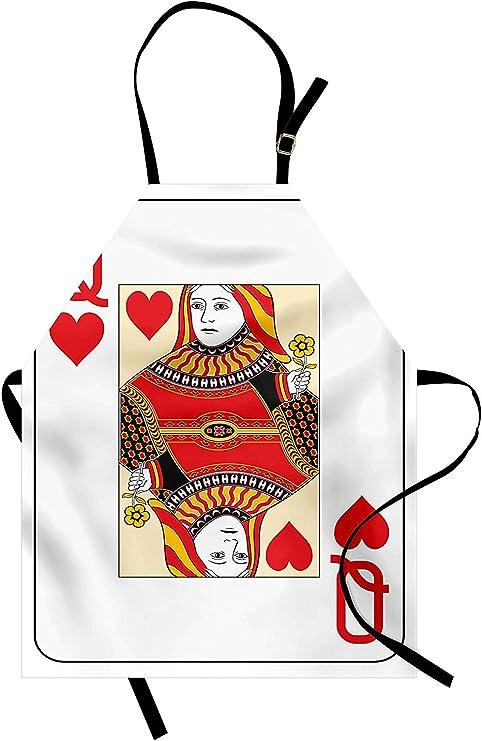 Delantal de la Reina de los Corazones Jugando Tarjeta Casino ...