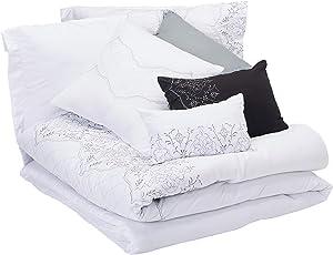Chic Home Grace 8-Piece Comforter Set, Queen, White