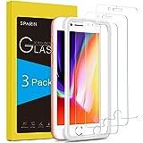 SPARIN [Lot de 3] Verre Trempe iPhone 8 Plus/Verre Trempe iPhone 7 Plus, Protection Ecran Film Protecteur Vitre pour iPhone 8/7 Plus, [avec Easy Installation Tool] Haut Définition [2.5D/9H Dureté]