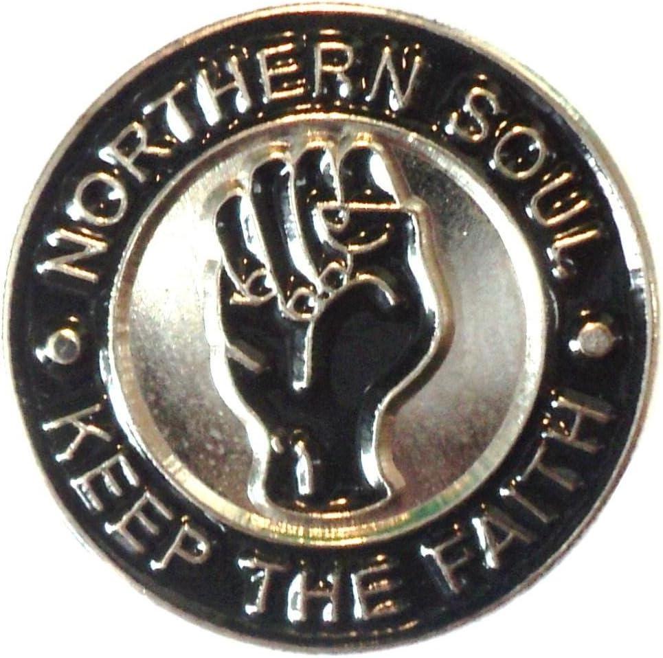 Skinhead Reggae blue motorcycle enamel pin badge MOD SKA Scooter northern soul