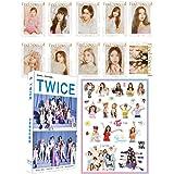 TWICE 【ニューアルバム ポストカード】 180点大ボリュームセット(ハガキ30枚、オリジナルカード30枚、シール120枚)+NewAlbum Feel special フォトステッカー 10枚 K-pop 韓流