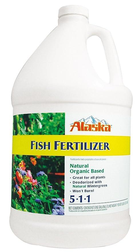 Alaska peces Emulsión fertilizantes 5 - 1-1 concentrado 1 Gallon ...