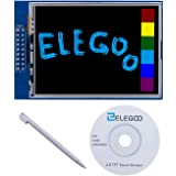 Elegoo per Arduino UNO R3 2.8 Inches TFT Touch Screen 320x240 con SD Card Socket con Tutorial in Inglese e Tutte le Tecniche in un CD
