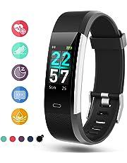 Glymnis Fitness Armband Fitness Tracker IP68 Wasserdicht Smartwatch Farbbildschirm Pulsuhren Aktivitätstracker und Schrittzähler mit Pulsmesser 0,96 Zoll für Damen Herren