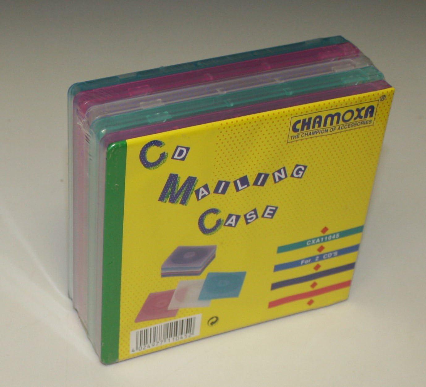 chamoxa 11045, CD vacía Fundas Color 2 x CD/DVD, 5 unidades: Amazon.es: Electrónica