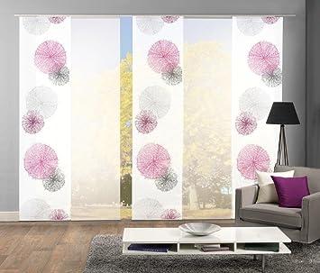 Home Fashion Set-Angebot Schiebegardinen Rawlins (SCOPPIO), Set-Größen, inkl. hochwertigem Zubehör (5, Flieder, 95999)