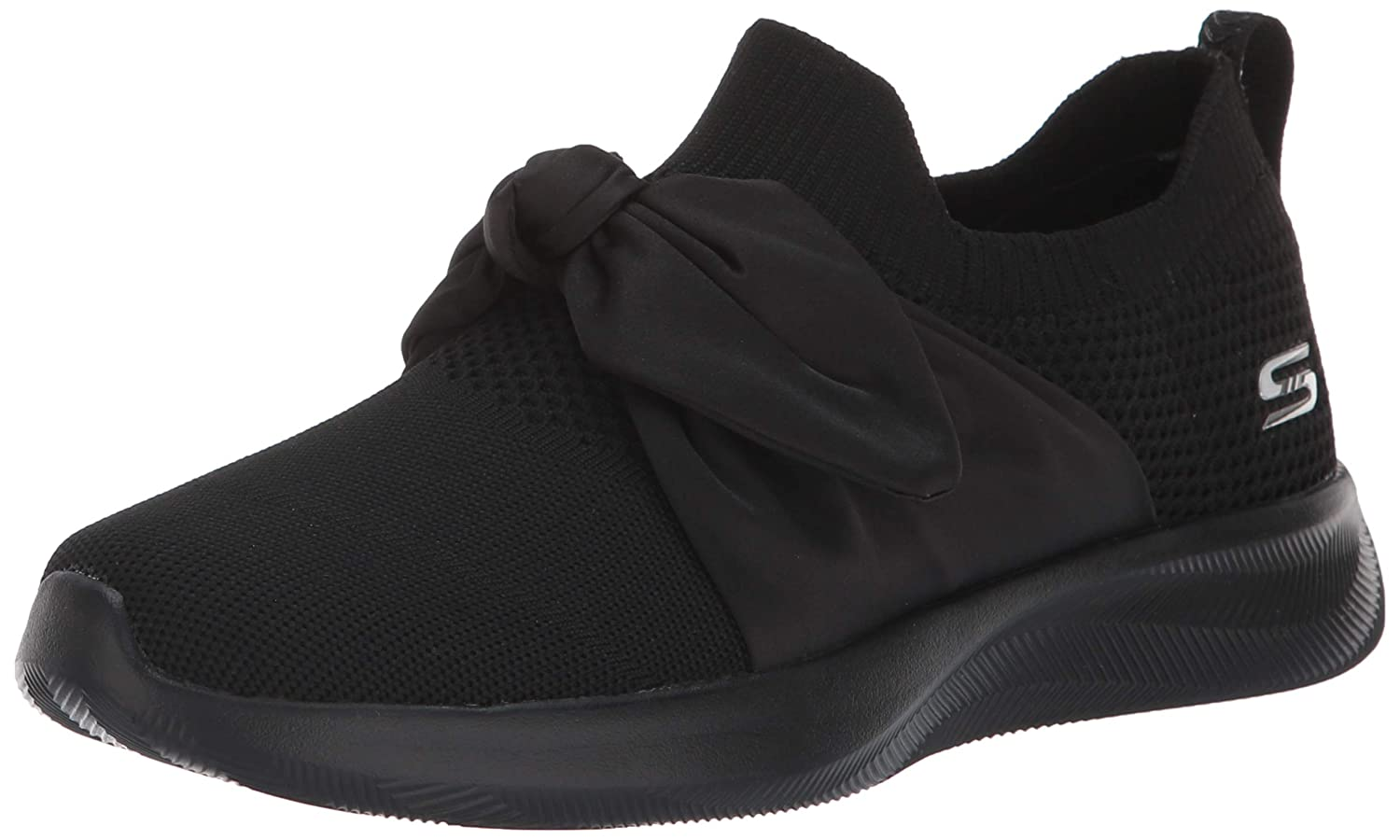 42251eb77b7e Amazon.com | Skechers BOBS Women's Bobs Squad 2-Bow Overlay Slip on  Engineered Knit Sneaker W Memory Foam | Shoes