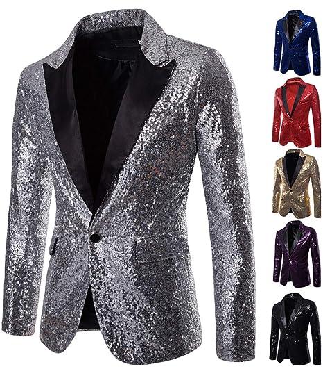 Veste de Costume de Luxe pour Homme Shiny Notch Lapel Slim Fit Vestes de  Smoking( 49f86c3fc75