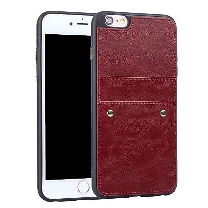 f96933e5ab iPhone7ケース iPhone8 ケース 背面ケース 高級PU アイフォン7 対応 ケース かっこいい 復古レザー 背面