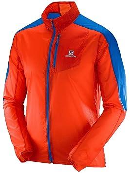 Salomon Fast Wing M Chaqueta, Hombre, Naranja (Vivid Orange/Blue Yonder), M: Amazon.es: Deportes y aire libre