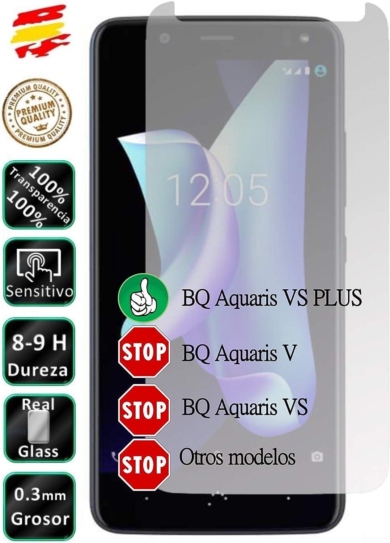 Movilrey Protector para BQ Aquaris VS Plus Cristal Templado de Pantalla Vidrio 9H para movil: Amazon.es: Electrónica