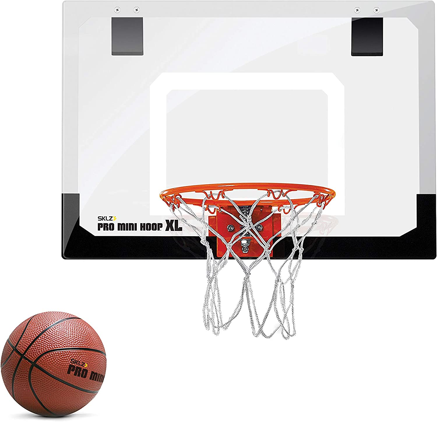 SKLZ Pro Mini Basketball Hoop with Ball, XL (23 x 16 inches) : Wall Mount Basketball Backboards : Sports & Outdoors