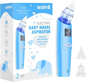 Baby Nasal Aspirator - Electric Nose Suction for Baby - Automatic Booger Sucker for Infants - Battery Powered Snot Sucker Mucus Remover for Kids Toddlers