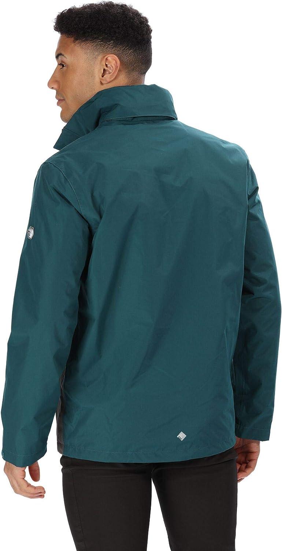 Regatta Mens Matt Waterproof Mesh Lined Hooded Shell Jacket