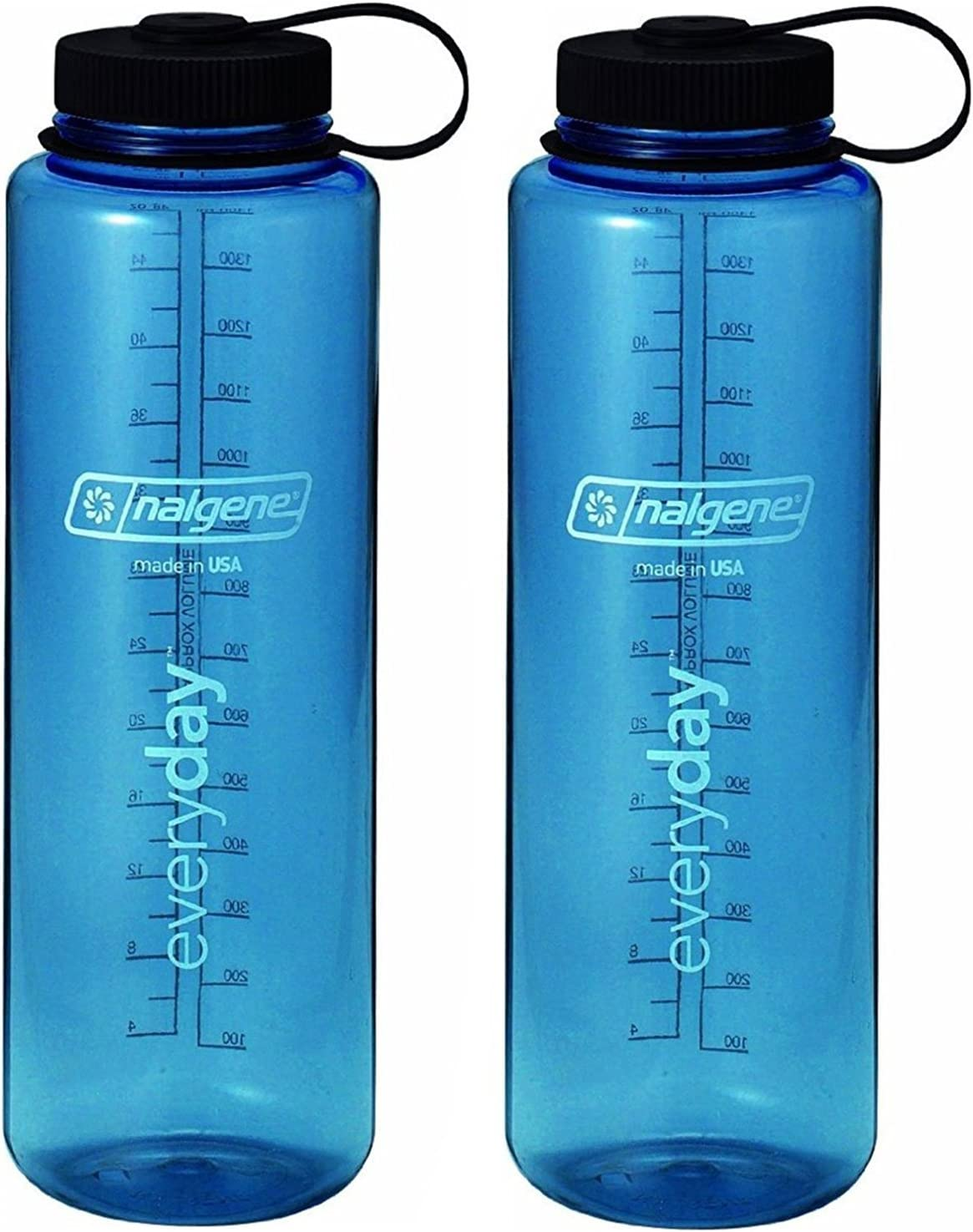 Nalgene 32oz Wide Mouth Everyday Water Bottle - Tritan - 2 Pack