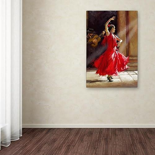 Flamenco Canvas Wall Art