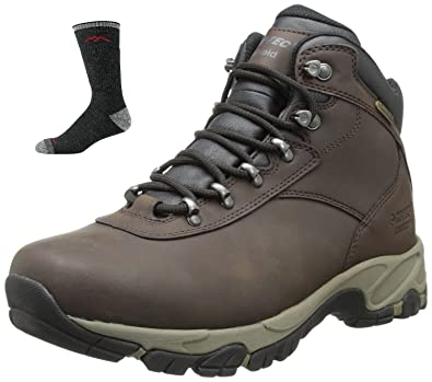 73c5e940a64 Hi-Tec Men's Altitude VI WP Wide Hiking Boot,Dark Chocolate/Light  Taupe/Black with Pair Socks