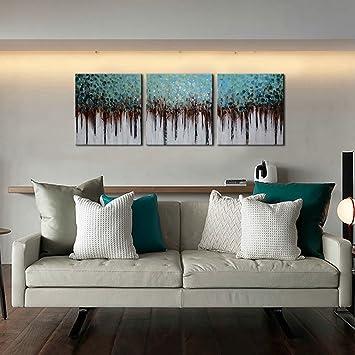 Amazon.com: ARTLAND 100% Hand Painted framed Wall Art \