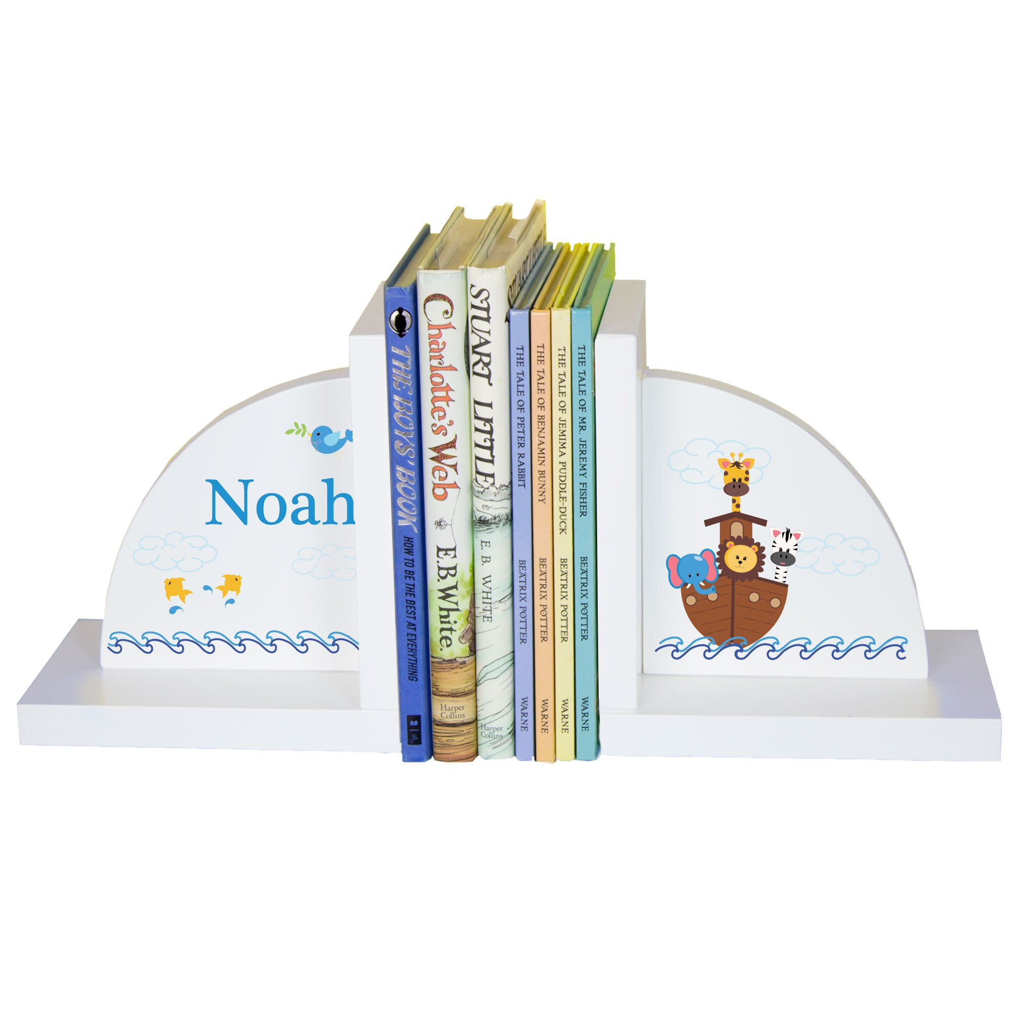 Children's Personalized Noah's Ark Bookends