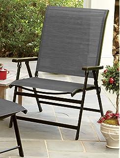 LivingXL Extra Wide Backyard Folding Chair (Grey)