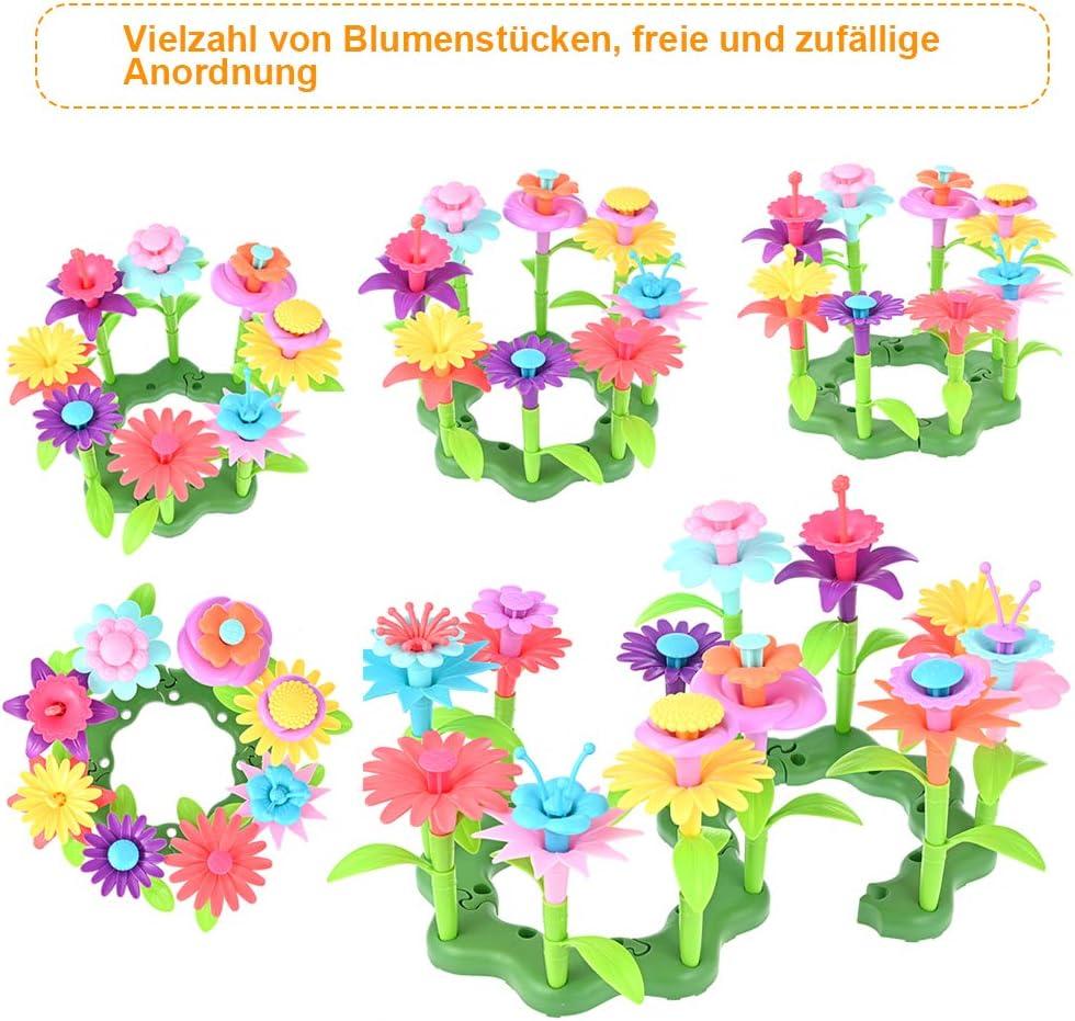 GOLDGE 148pcs Blumengarten Spielzeug Kinder Blumengarten Bastelset Blumensteckset DIY Bouquet Sets Geschenk f/ür Kinder