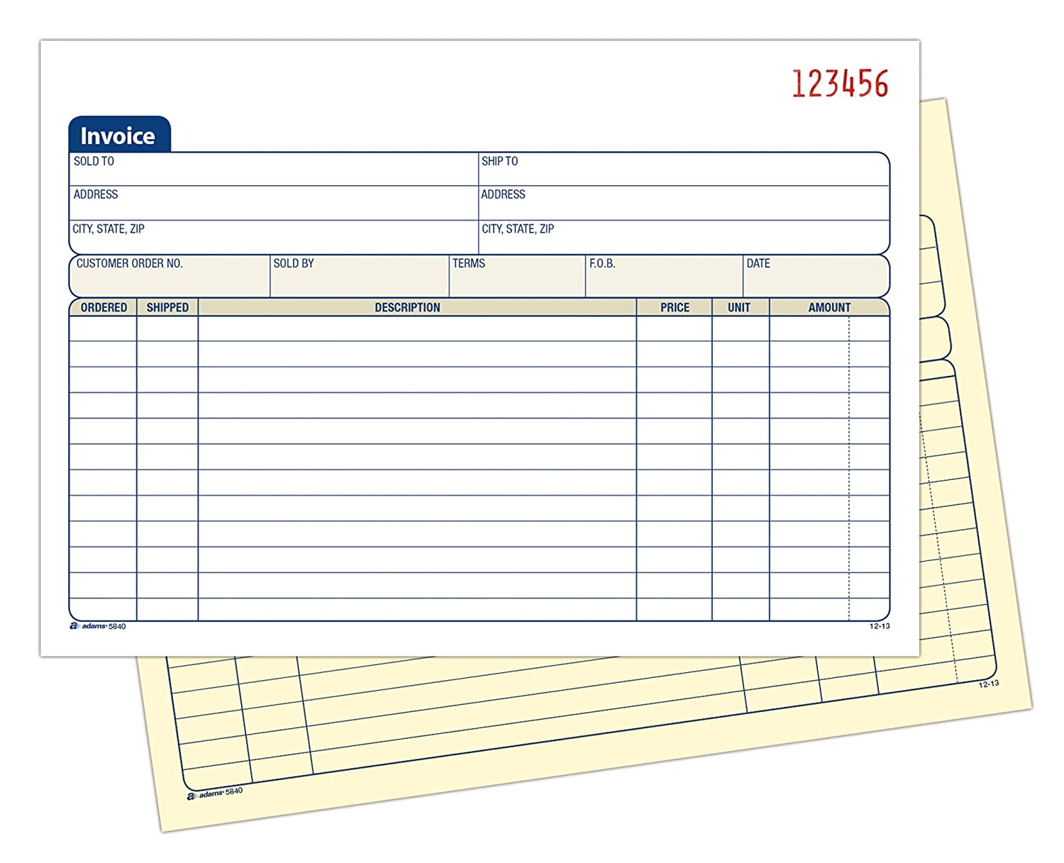 Sales Forms Invoice Forms Amazoncom Office School Supplies - Download free invoice template online fabric store coupon