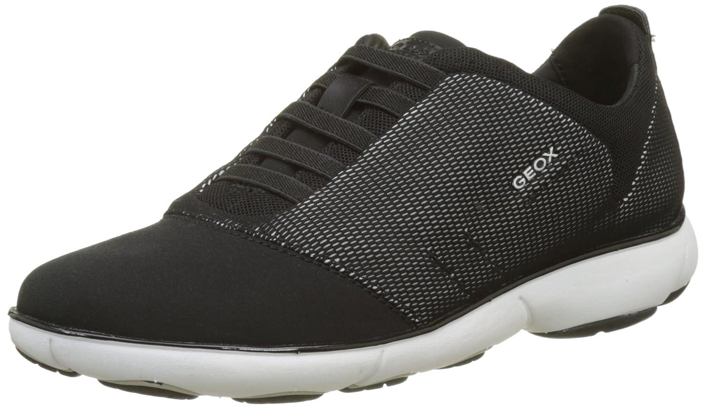 Geox Women's Nebula 16 Sneaker B074GGCBQV 40 M EU (10 US)|White/Black
