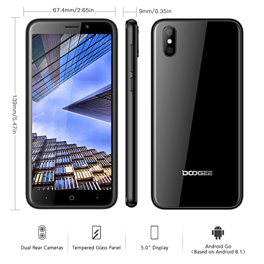 Moviles Libres Baratos, DOOGEE X50 Dual SIM Teléfono Móvil Libre, Android Go 5