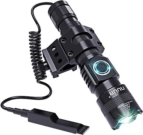 1200Lm LED Hunting Light Tactical Flashlight Torch Lamp USB Charging Rail Mount