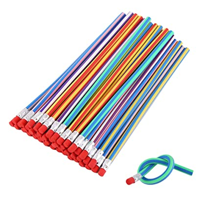 31478a3a87 Amazon.com: DECORA 50pcs Soft Flexible Bendy Pencils Kids Children ...