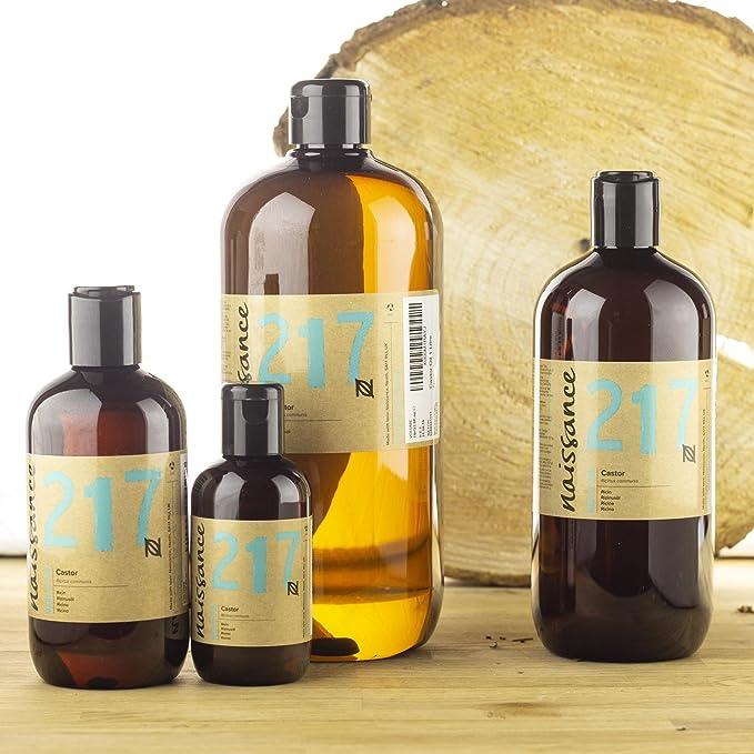 Naissance Aceite de Ricino 3 x 1L - Puro, natural, vegano, sin hexano, no OGM - Hidrata y nutre el cabello, las cejas y las pestañas: Amazon.es: Belleza