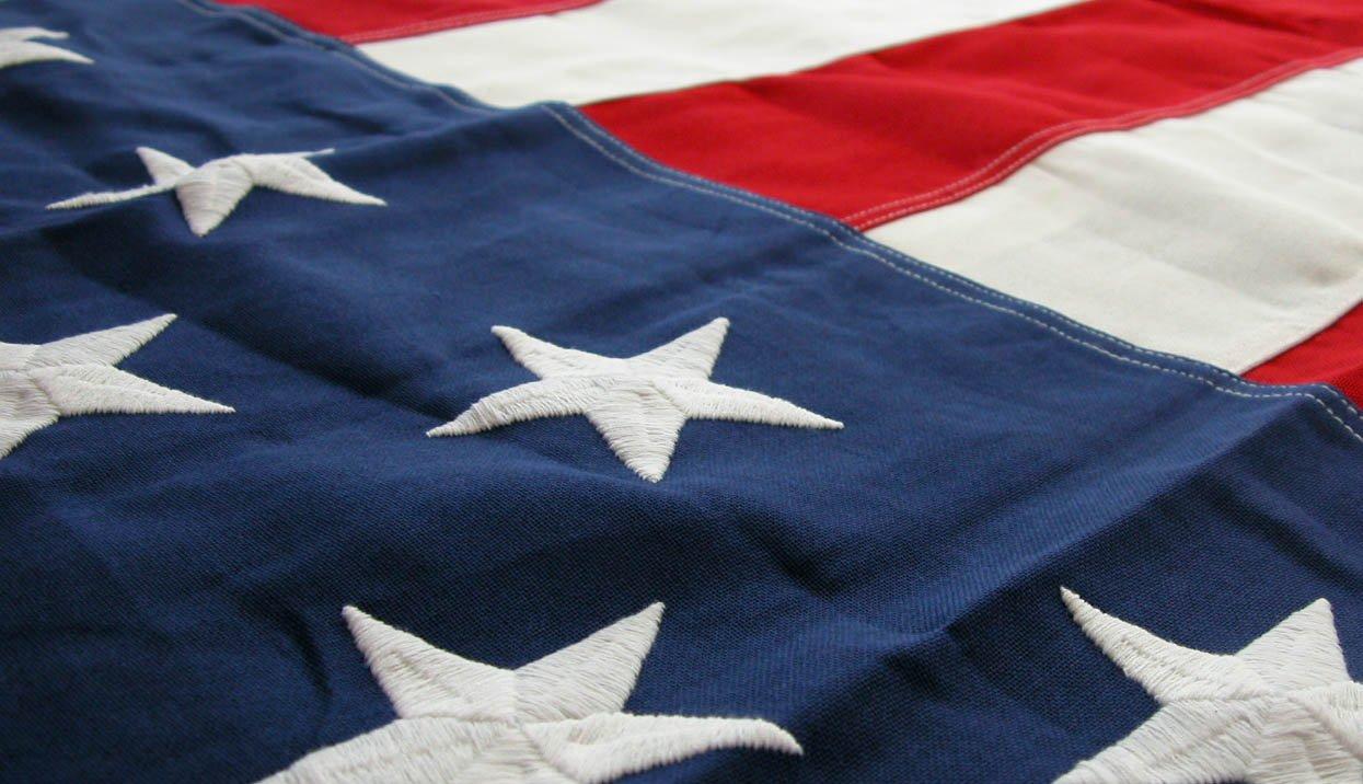 FORTISVEX 5'x9.5' G-spec Cotton Burial Casket Interment American Flag 5ftx9.5ft US Flag