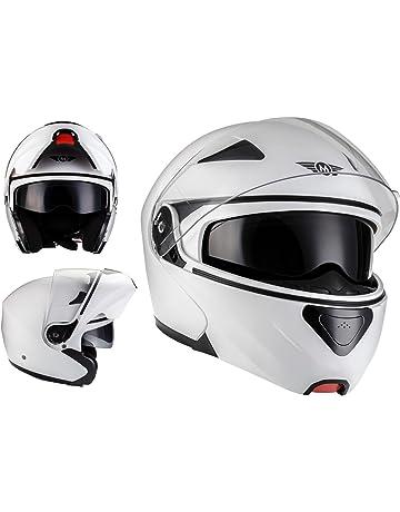 c6aaa0f7cc805 MOTO F19 Matt White · Cruiser Sport Flip-Up Casco da motocicletta modulare  Moto Modular