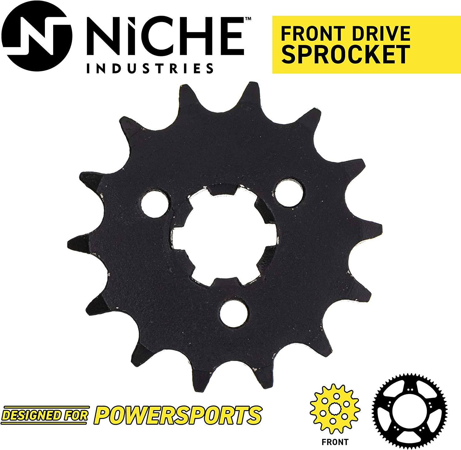 NICHE 428 Pitch Front 15T and Rear 42T Drive Sprocket Kit for 1976-1981 Kawasaki KE100ment 13144-054