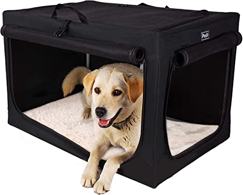 Petsfit Travel Pet Home Indoor Outdoor for Dog Steel Frame Home,Collapsible Soft Dog Crate