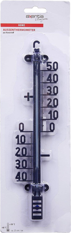 Außenthermometer 2 Stück Set Metall 19 cm rot analog Garten Außen Thermometer
