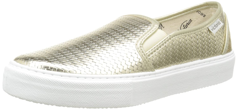 Slip on Tej Trenza Metalizado, Unisex Adults Low-Top Sneakers Victoria