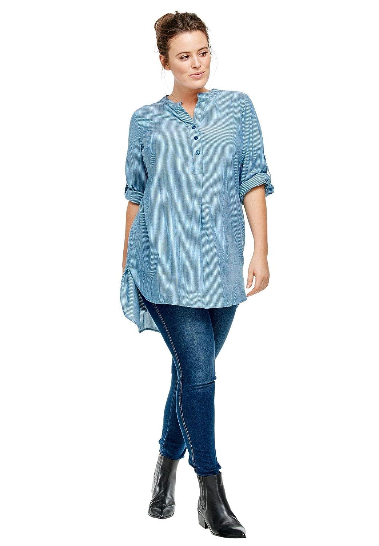 b981c25b8e8 Ellos womens plus size striped henley tunic at amazon womens clothing store  jpg 1042x1500 Ellos tunics