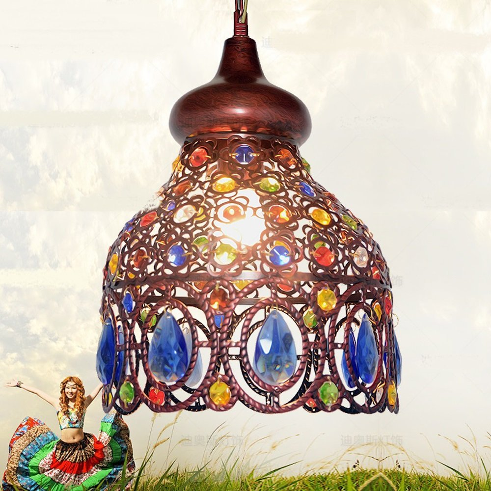 Southeast Asia Thai pendant lamps color crystal Mediterranean Bohemian restaurant aisle lamps pendant lights ZA626 ZL53 by WINZSC