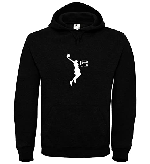 MYMERCHANDISE Lebron James Cleveland 23 Black Unisex Hoodie Hoody Sweater  Jumper Sweatshirt for Men Women  Amazon.co.uk  Clothing 9d5d452b82