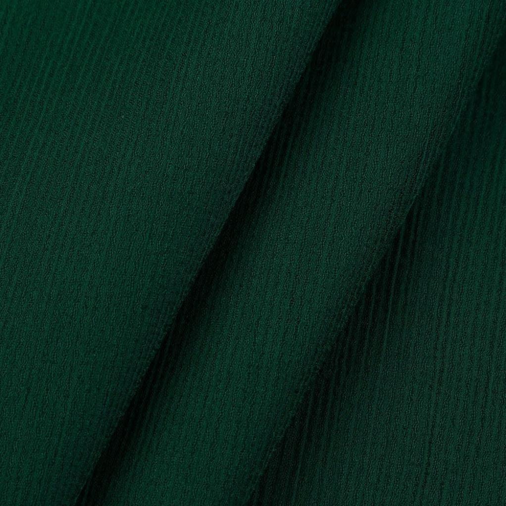 S, Bianco Vestiti da donna MEIbax Donne camicette chiffon elegante stand colletto vestiti maglia sciolto volant Top Translucent manica lunga casual shirt