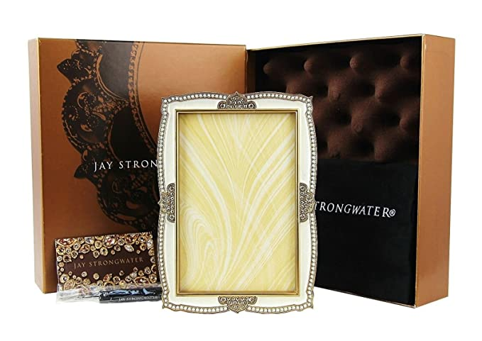 Jay Strongwater Graham dorado pavo real marco para fotos 4 x 6 ...