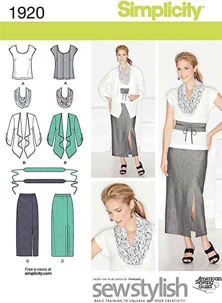Pants and Scarf Sewing Pattern for Women by Karen Z Simplicity Easy-to-Sew 4552 Plus Size Skirt Dress 10-18 Sizes AA