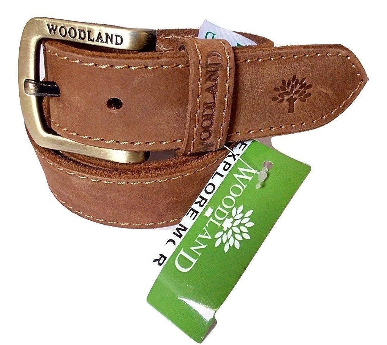 WOODLAND OM INTERNATIONAL Men's Leather Belt (Brown_34)